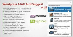 WP AJAX Search & AutoSuggest WordPress Plugin Download