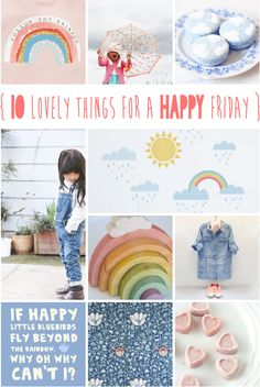 lily&Bloom . hAppy fridAy . {   10 lOvely things that caught my eye this week . with aPril comes sUnshine & showers . rainbows & raindrops . spring cleaning & spring dressing } .