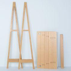 No glue, no screws - flat pack furniture just got interesting. Perfect for how we live today. Ambrose A Frame Desk by Matt Elton | Desks | Office Furniture | Office | Heal's