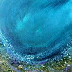 Rockpool painting by Margaret Hogan From the blog ... Is the ocean really broken? http://destinationhereandnow.com/2013/10/is-the-ocean-really-broken/
