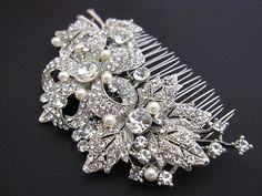 Bridal hair combwedding pearl hair comb bridal by bridal101, $59.00