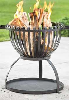 We like the basket-style look of the Dane Fire Pit as an unexpected twist on rustic-chic décor.
