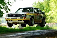 Audi Quattro Sport lift-off Audi Quattro, American Graffiti, Porsche, Audi Sport, Audi Cars, Sweet Cars, Rally Car, Car Manufacturers, Fast Cars