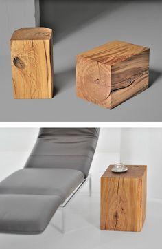 Wooden stool KLOTZ by Vitamin design #wood