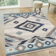 Handcraft Rugs 8x10 Southwestern Pattern Contemporary Modern and Faded Area Rug With Unique Colors Our Best Seller Rugs Collection Color BoneNavyIvory and Light Blue *** Be sure to check out this awesome product. Note: It's an affiliate link to Amazon