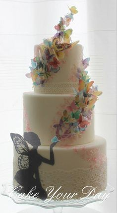Butterfly and fairy cake