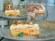 TERTE & ROLKOEKE - SOET Dessert Ideas, Dessert Recipes, Desserts, Kit Kat Brownies, Fridge Cake, South African Recipes, Meringue Cookies, Tart Recipes, Diy Food