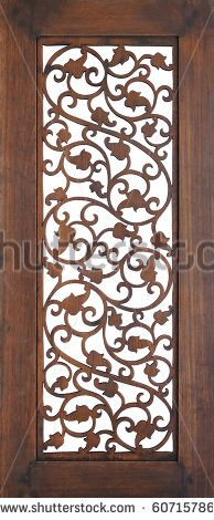 Seamless wooden openwork wall