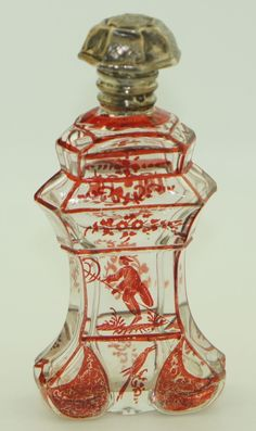 Vintage Dutch Victorian RED Perfume Bottle | eBay