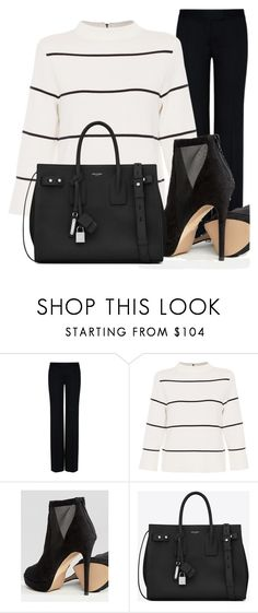 """Black Stripes"" by lia-fashion on Polyvore featuring STELLA McCARTNEY, L.K.Bennett, ALDO and Yves Saint Laurent"