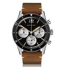 Dan Henry 1963 Pilot Chronograph, Sandwich Dial with Blac... #danhenry #pilotwatch #skeleton #divewatch #diver #dresswatch #fashion #style #shopping #mensfashion #menwatches #watches #Chronographwatch #amazon