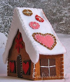Felt Gingerbread House....for those on a diet!