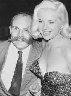 Diana Dors and Jimmy Edwards at 'The Night of a 100 Stars' at the London Palladium, 1950s.