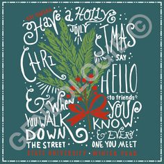 Have a holly jolly Christmas. Geneologie | Greek Tee Shirts | Greek Tanks…
