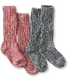 19.95 Women's Cotton Ragg Camp Socks, Two Pairs: Socks   Free Shipping at L.L.Bean