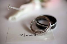Our wedding rings. Each wedding band is engraved with words from our first dance song. Wedding Bands, Our Wedding, First Dance Songs, Bling, Engagement Rings, Mac, Jewelry, Enagement Rings, Jewel