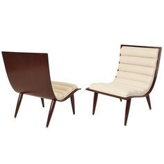 Elegant Bentwood & Rolled Leather Lounge Chairs | From a unique collection of antique and modern lounge chairs at http://www.1stdibs.com/furniture/seating/lounge-chairs/