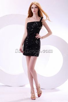 1st-dress.com Offers High Quality Cute One Shoulder Little Black Club Dresses,Priced At Only US$158.00 (Free Shipping)