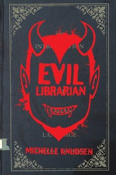Evil librarian by Michelle Knudsen When Cynthia's best friend, Annie, falls head over heels for the new high-school librarian, Cyn can totally see why. He's really young and super cute and thinks Annie would make an excellent library monitor. But after meeting Mr. Gabriel, Cyn realizes something isn't quite right. Maybe it's the creepy look in the librarian's eyes, or the weird feeling Cyn gets whenever she's around him. Before long Cyn realizes that Mr. Gabriel is, in fact . . . a demon.
