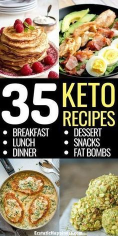 If you're looking for easy keto recipes for breakfast, lunch, dinner, snacks and fat bombs, look no further! Here's the perfect hassle-free keto diet plan. Cooking on a ketogenic diet can… Lunch Snacks, Keto Snacks, Keto Diet Foods, Diet Desserts, Lunches, Diet Drinks, Apple Desserts, Alcoholic Drinks, Food Dinners