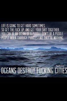 Oceans destroy