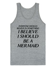 Look what I found on #zulily! Heather Gray 'I Should Be A Mermaid' Scoop Neck Tank - Women #zulilyfinds