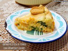 Ponto de Rebuçado Receitas: Empada deliciosa de frango e legumes