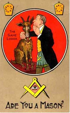 ~Same Lodge~ Are you a Mason? Masonic Humour Postcard