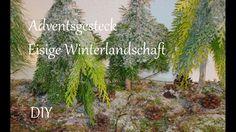 DIY | Adventsgesteck aus Naturmaterialien | Eisige Winterlandschaft | Ju...