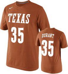 Kevin Durant Texas Longhorns Nike #35 Burnt Orange Replica Player T-Shirt $29.99 http://www.fansedge.com/Texas-Longhorns-Orange-Replica-Player-T-Shirt-_-1184674401_PD.html?social=pinterest_pfid66-57543