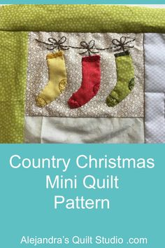 Country Christmas Mini Quilt Pattern Christmas Minis, Country Christmas, Mini Quilt Patterns, Applique Tutorial, Quilt Studio, Quilts, Quilting Ideas, Holiday, Cute