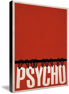 psycho - movie poster minimalistic style
