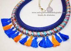 Resultado de imagen para collares de cordones de colores