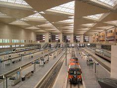 Zaragoza trainstation at DuckDuckGo Train Station, Solar Energy, Sky, World, Zaragoza, Parking Lot, Cities, Architecture, Trains