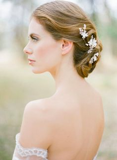 An enticing, elegant and whimsical take on traditional bridal hair pins. The Briar-Rose pins are small and dainty, yet their exquisite detailing Swarovski Pearls, Swarovski Crystal Beads, Briar Rose, Headpiece Wedding, Wedding Veils, Bridal Looks, Bespoke, Wedding Hairstyles, Floral