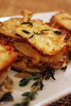Muffin Tin Onion Gruyere Potato Stacks