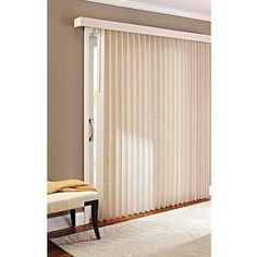 Better Homes and Gardens Vertical Textured S-Slat Privacy Blinds