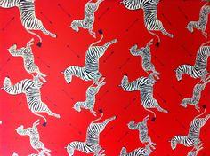 Scalamandre zebra and arrows wallpaper!