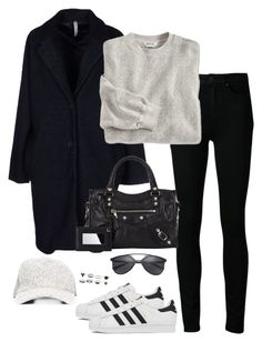 """""""Untitled #2184"""" by andreagm ❤ liked on Polyvore featuring Reality Studio, Paige Denim, Made for Loving, Balenciaga and adidas"""