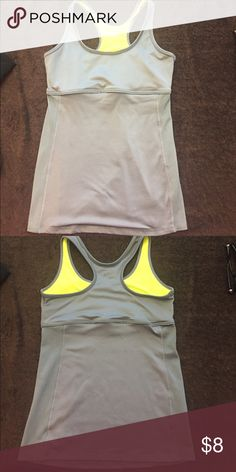 Champion workout tank top - built in bra no pads No tears or stains- just too small Champion Tops Tank Tops