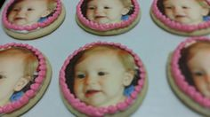 Baby's first birthday cookie favors.