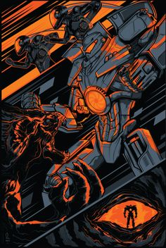 Yeah, Gipsy Danger! Loved this movie!  Pacific Rim by Peter Gutierrez, via Behance