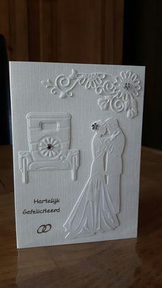 Kaart voor bruidspaar gemaakt door Anne Marie.