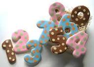 Polka Dot Numbers Cookies by leigh Galletas Cookies, Iced Cookies, Royal Icing Cookies, Cookies Et Biscuits, Cupcake Cookies, Sugar Cookies, Cupcakes, Cookies For Kids, How To Make Cookies
