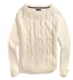 Tommy Hilfiger Women's Chunky Long Sleeve Cable Sweater on shopstyle.com