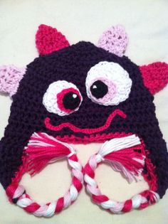 Monster hat crochet monster hat crochet hat baby by loopsbowtique a970e3d71b51