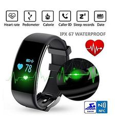 Heart Rate Monitor Waterproof Fitness Tracker Watch Smartband for IOS Android Phone
