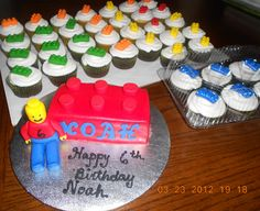 Lego cake for a 6 year old who loves everything Lego and I have to say, he's pretty good at it.