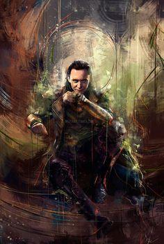 Portrait of Tom Hiddleston as 'Loki' (Thor - The Dark World) Marvel Avengers, Captain Marvel, Marvel Dc Comics, Marvel Heroes, Marvel Characters, Marvel Movies, Captain America, Loki Laufeyson, Loki Thor