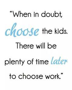 Choose the kids...